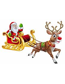 Party Propz Christmas Cutout Multicolor - 60 Cm