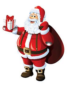Party Propz Santa Claus Cutout - Red