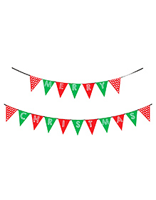 Party Propz Merry Christmas Party Banner - Red Green