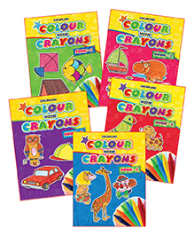 Dreamland - Color With Crayons 1 To 5 Pack