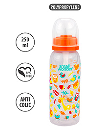 Small Wonder Polypropylene Feeding Bottle Orange - 250 Ml