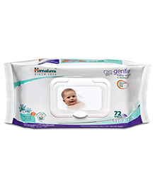 Himalaya Gentle Baby Wipes 72 Pieces 72 Pieces, With herbs and Indian Lotus combination to keep baby's skin...