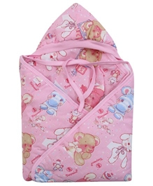 Tiny Care - Hooded Animal Print Baby Towel