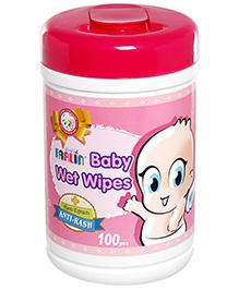 Farlin Anti Rash Baby Wet Wipes 100 Pieces