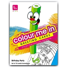 61c - Colour Me In Greeting Cards Birthday Party Pack