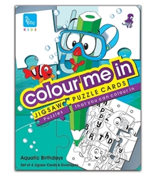 61c - Colour Me In Jigsaw Puzzle Cards Aquatic Theme