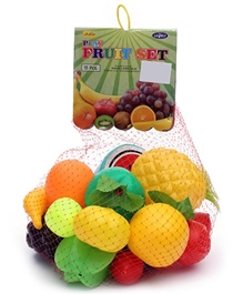 Luvely - Play Fruit Set Of 18 Pcs Multi Colour