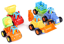 Truck Cartoon Toy Set 5 In 1 Multi Color