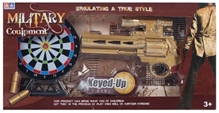 Fab N Funky - Golden Military Couipmcnt Gun Toy With Sound And White Target