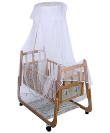 Mee Mee - Wooden Cradle	 White
