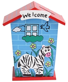 Fab N Funky - Zebra Wooden Coin Bank