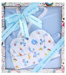 Montaly - Animal Print Baby Gift Set Blue