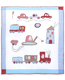 Abracadabra Quilt Toy Sheet Set Transport Car - Blue - Sophisticated And Classic Design