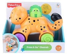 Fisher Price - Orange Press And Go Cheetah Toy