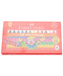 Faber Castell 12 Wax Crayons