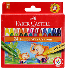 Faber Castell 24 Jumbo Wax Crayons