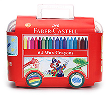 Faber Castell 64 Wax Crayons