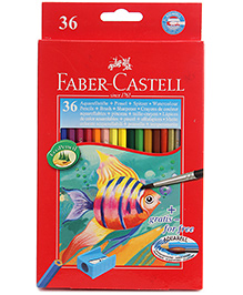 Faber Castell 36 Colour Pencils 5 Years+, Triangular Color Pencils for your little one