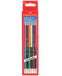 Faber Castell 6 Bi Colour Pencils 12 Shades, Advantages Of Two Different Shades In One Pencil