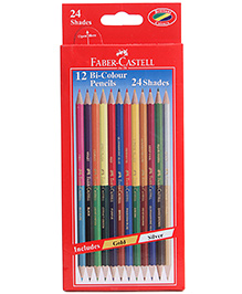 Faber Castell 12 Bi Colour Pencils 24 Shades,  Advantages Of Two Different Shades In One Pencil