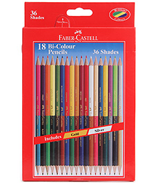 Faber Castell 18 Bi Colour Pencils 36 shades, Advantages of two different shades in one pencil
