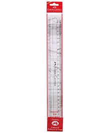 Faber Castell Transparent Slim Scale - 30 Cm - 3 Years+