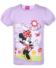 Disney - Half Sleeves Minnie Print Top