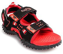 Footfun - Black And Red Splendor Sandal