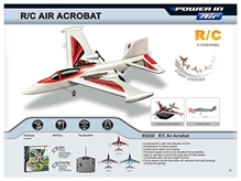 Silverlit - White M Class Fly Remote Control Air Acrobat 3 channel