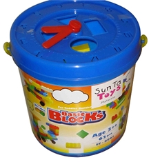 Sunta - Basic Blocks 62 Pieces In Plastic Bucket