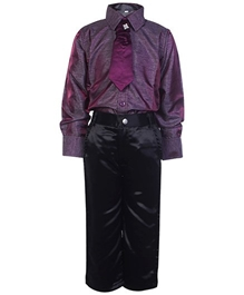 Jonez - Full Sleeves Shirt And Trouser With Brooch
