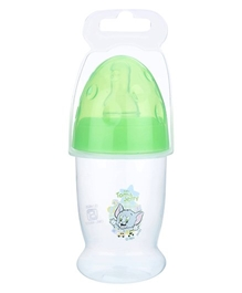 Tom And Jerry Feeding Bottle Green 125 Ml Baby Feeding Bottle With Super Soft And Elastic Silicone Nipple