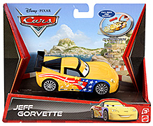 Disney Pixar Cars Pullback And Release Jeff Gorvette -Yellow