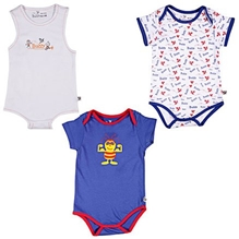 Buzzy - Set Of 3 Multi Print Onesies