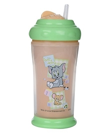 Tom and Jerry Double Wall Insulated Cup With Base and Swivel Lid Brown 200 ml