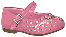 Elefantastik Ballerina with Studs and Buckle Closure - Pink