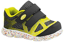 Elefantastik Sneakers with Dual Velcro Strap - Yellow and Black