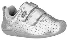 Elefantastik Sneakers with Dual Strap Closure - Silver