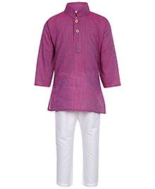Baby Hug - Purple Stripped Kurta Pyjama Set