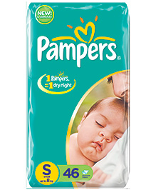 Pampers Baby Diapers Small - 46 Pieces