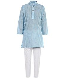 Babyhug Sky Blue Kurta Pyjama Set