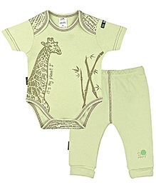 Kushies Baby - Green Onesies And Pant Set
