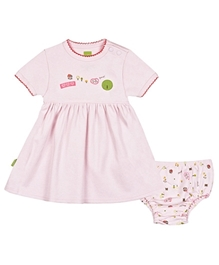 Kushies Baby - Frock With Printed Bloomer Pink