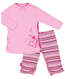 Kushles Baby - Heart Print Tunic and Tight Set