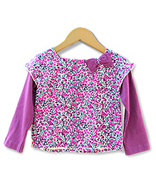 Beebay - Full Sleeves Berry Print Top