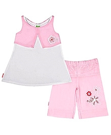 Kushies Baby Sleeveless Top And Shorts Set - Frock Style