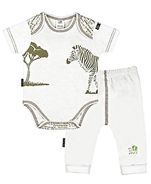 Kushies Baby - Zebra Print Onesies And Pant Set
