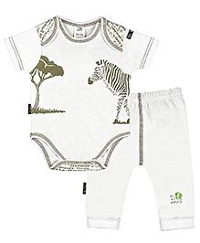 Kushies Baby - Zebra Print Onesies And Pant Set