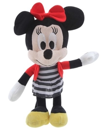 Disney Minnie In Sailor Outfit Soft Toy 8 Inches - Minnie in a pretty stripe dress