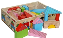 Skillofun - Fun Wooden Building Blocks 60 Pieces